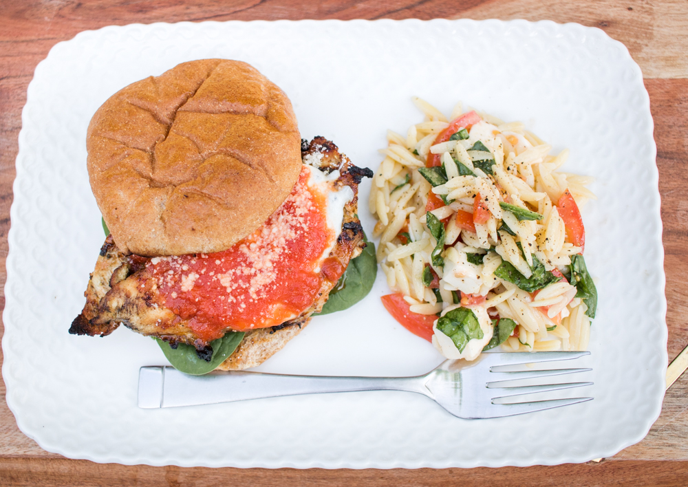 Grilled Chicken Parmesan Sandwich- An Italian Classic with a Summer Twist!