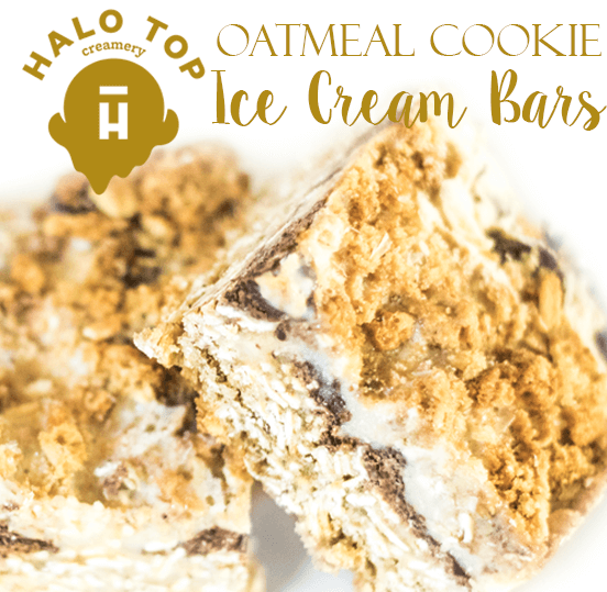 Halo Top Creamery Oatmeal Cookie Ice Cream Bars
