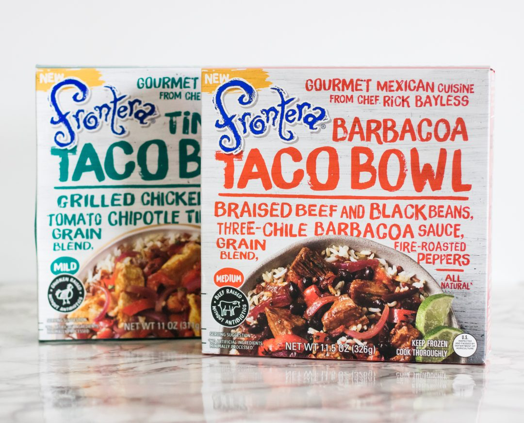 busy mom, tacos, taco bowls, fronters frozen meals, frontera, frontera at kroger, dinner made easy