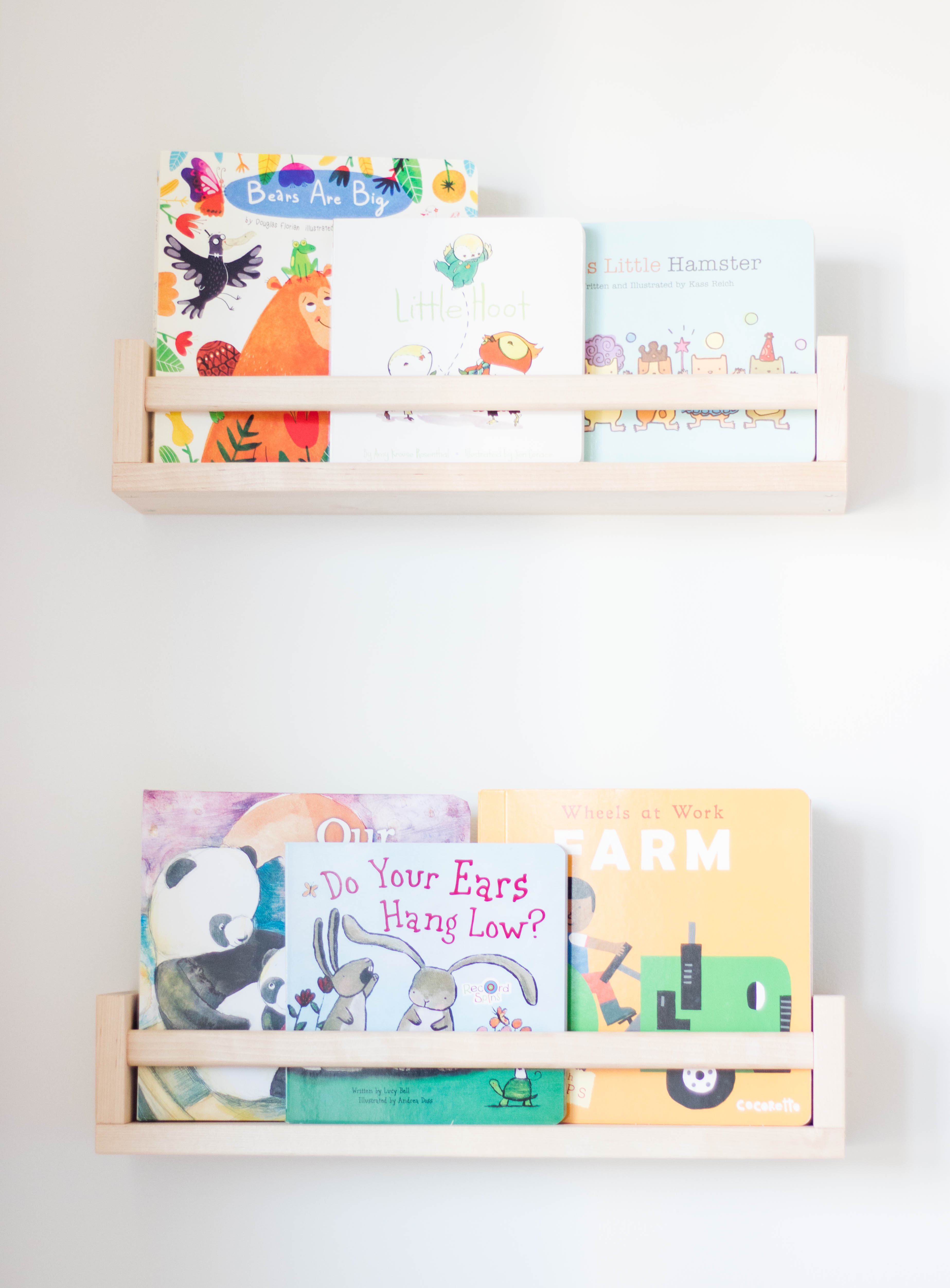 baby's first library, ikea, ikea shelves, baby library, book nook, baby books