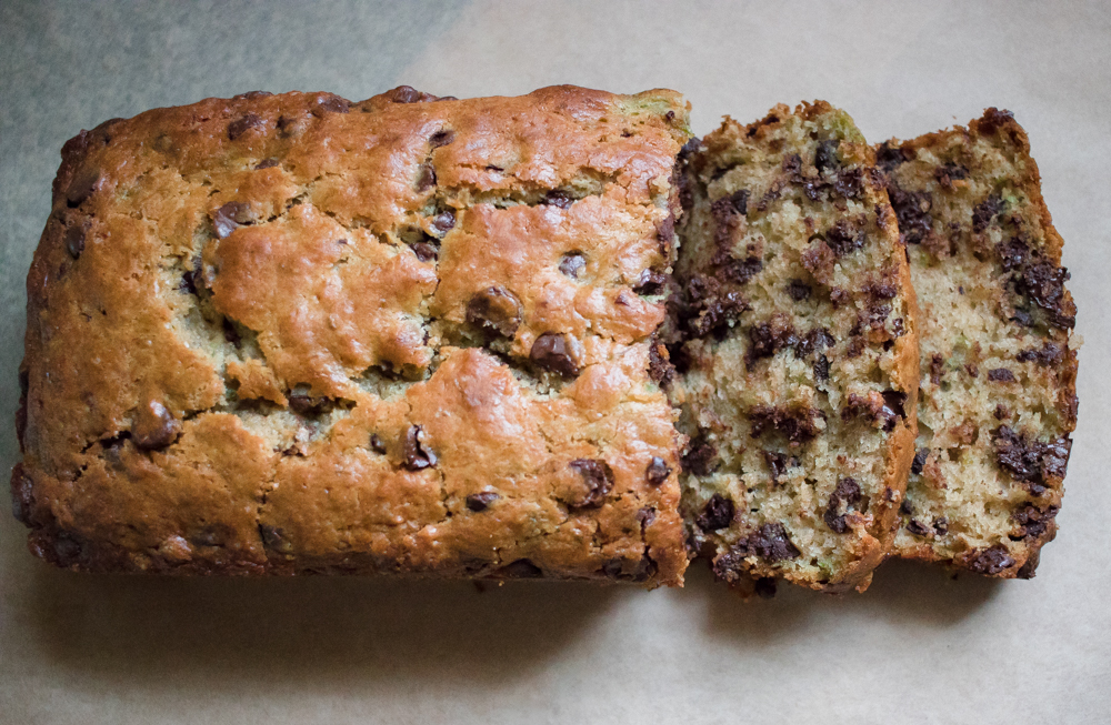 Best Ever Dark Chocolate Chip Zucchini Bread!