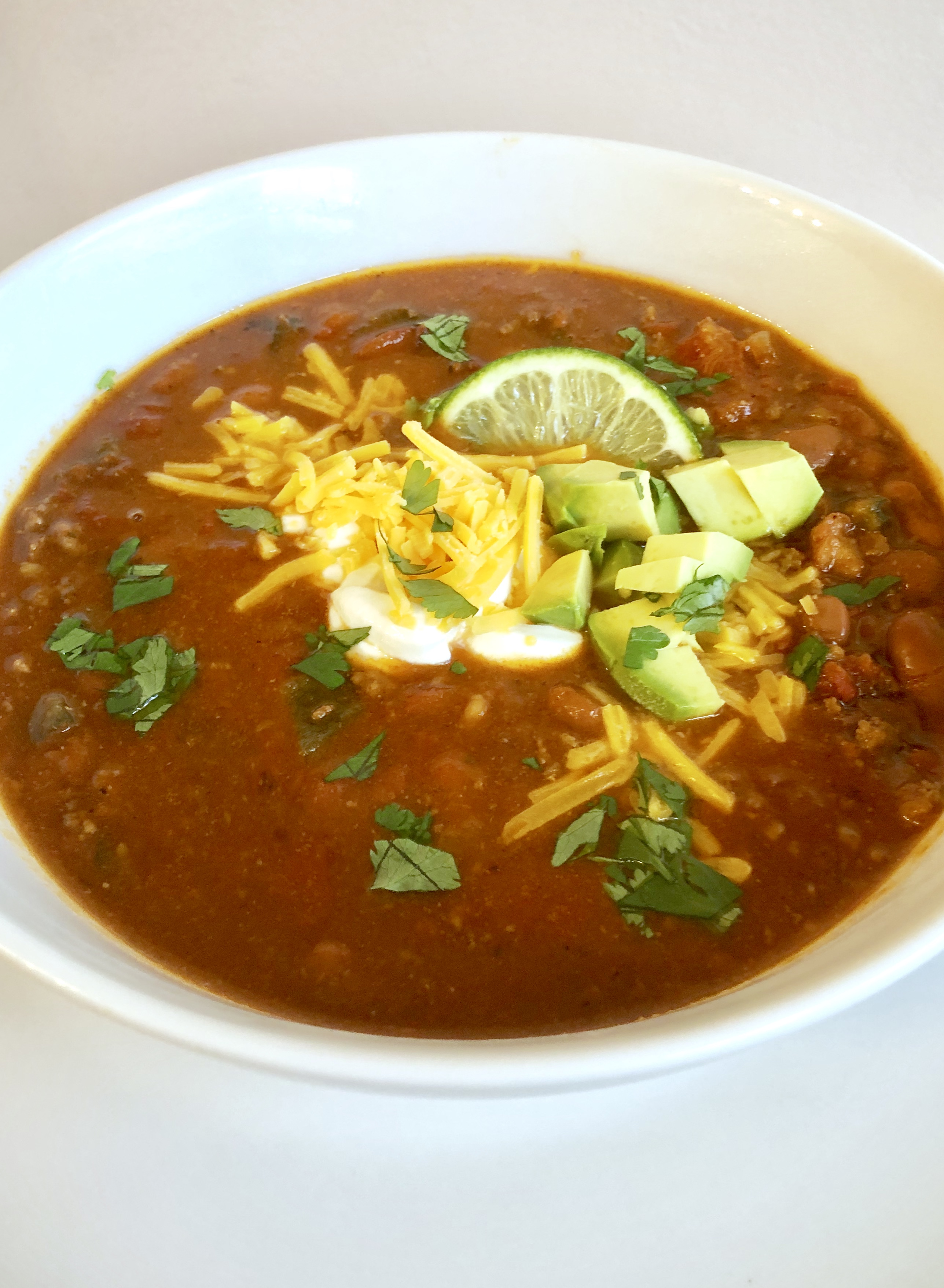 Instantpot Chili Healthy Clean Ingredients Full Of Flavor
